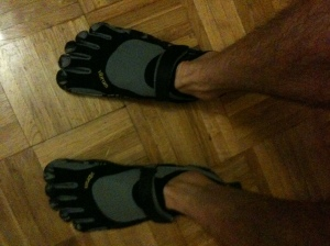 My new Vibram Fivefingers KSO shoes!